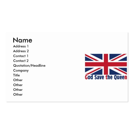 Collections of union jack business cards for Union business cards