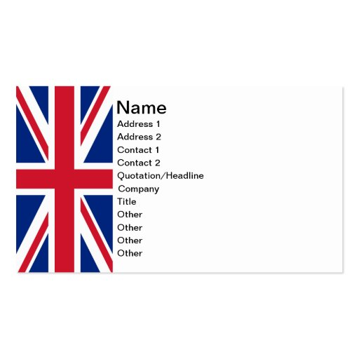 Union jack business cards zazzle for Union made business cards