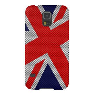 Union Jack Carbon Fiber Style Decor Galaxy S5 Cases