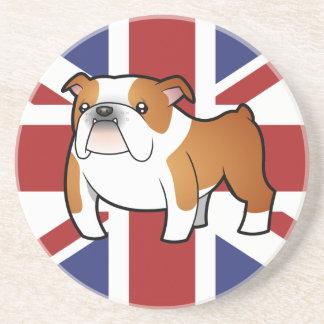 Union Jack Cartoon English Bulldog Coaster