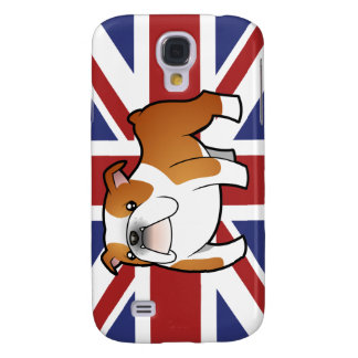 Union Jack Cartoon English Bulldog Galaxy S4 Case