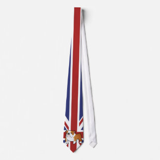 Union Jack Cartoon English Bulldog Tie