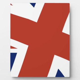 Union Jack Close Up Plaque