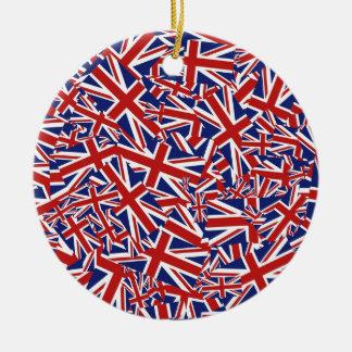Union Jack Collage Christmas Ornament