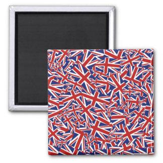 Union Jack Collage Square Magnet