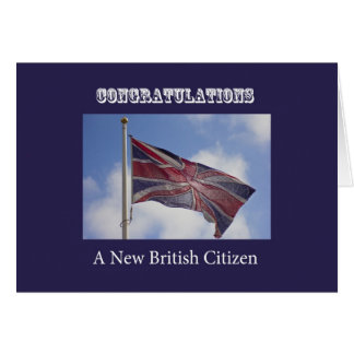 Union Jack Congratulations New British Citizen Card