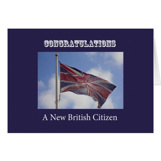 Union Jack Congratulations New British Citizen Greeting Card