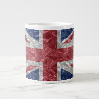 Union Jack - Crinkled Large Coffee Mug