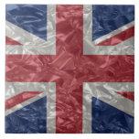 Union Jack - Crinkled Large Square Tile