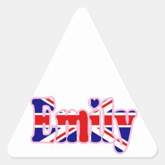 Union Jack cutout Emily Sticker