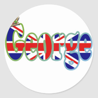 Union Jack cutout George Round Stickers