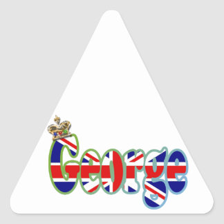 Union Jack cutout George Triangle Sticker