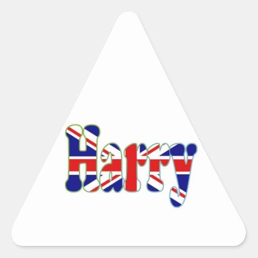 Union Jack cutout Harry Sticker
