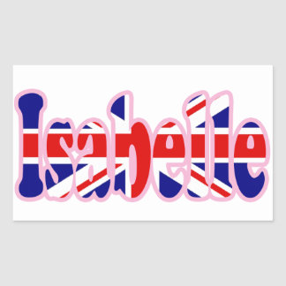 Union Jack cutout Isabelle Stickers