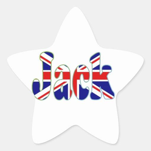 Union Jack cutout Jack Stickers