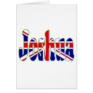 Union Jack cutout Joshua Greeting Card