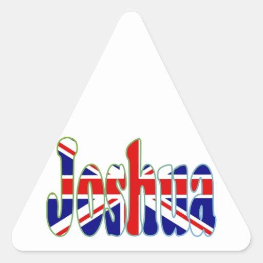 Union Jack cutout Joshua Triangle Stickers