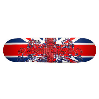 Union Jack Dieu et Mon Droit British Coat of Arms Skate Board Decks