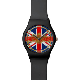 Union Jack Dieu et Mon Droit British Coat of Arms Watch