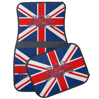Union Jack Dieu Mon Droit British Coat Arms Car Mat