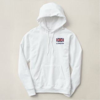 Union Jack Embroidered Hoodie