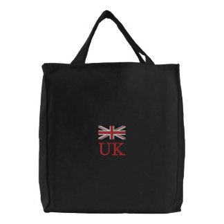 Union Jack Embroidered Tote Bag