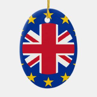 Union Jack - EU Flag Christmas Ornament