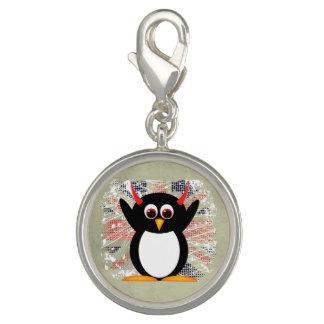 Union Jack Evil Penguin Charm