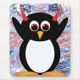 Union Jack Evil Penguin Mouse Mat