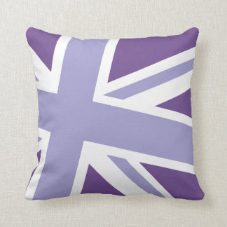 Union Jack Fashion Throw Pillow in Violet
