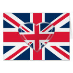 Union Jack Flag and Heart Art Cards
