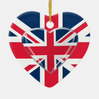 Union Jack Flag and Heart Ornament