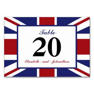 Union Jack Flag British Wedding Table Card