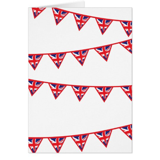 Union Jack Flag Bunting Card