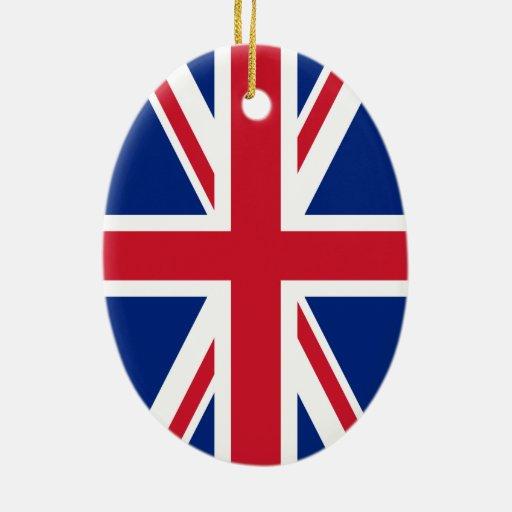 Union jack flag ceramic oval decoration zazzle for Decoration murale union jack