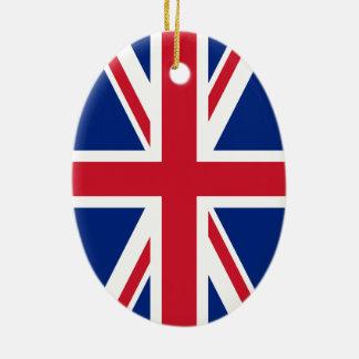 Union Jack Flag Christmas Ornament
