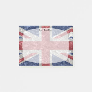 Union Jack Flag - Crinkled Post-it Notes