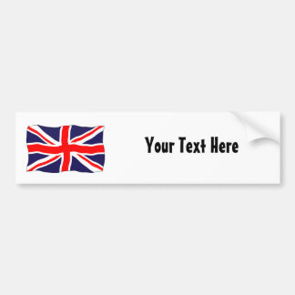 Union Jack Flag - Customizable With Your Text! Bumper Sticker