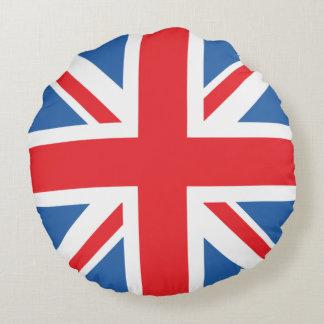 Union Jack/Flag Design Round Cushion