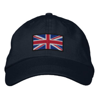 Union Jack Flag Embroidered Hat