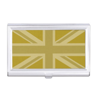 Union Jack/Flag Golds Business Card Cases