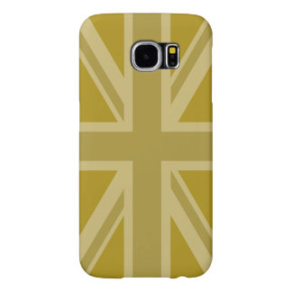 Union Jack/Flag Golds Samsung Galaxy S6 Cases