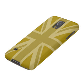 Union Jack/Flag Golds Galaxy S5 Cases