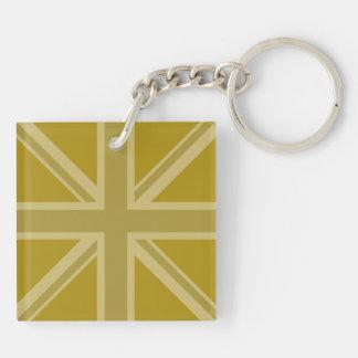 Union Jack/Flag Golds Key Ring