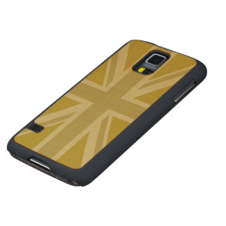 Union Jack/Flag Golds Maple Galaxy S5 Slim Case