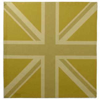 Union Jack/Flag Golds Napkin