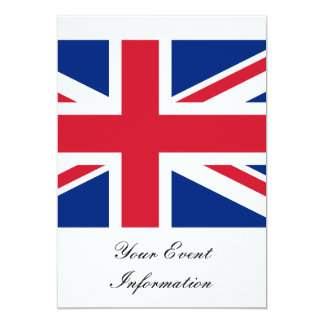 Union Jack Flag Great Britain Party Event 5x7 Paper Invitation Card