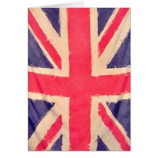 UNION JACK FLAG grunge Card