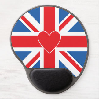 Union Jack/Flag & Heart Gel Mouse Pad