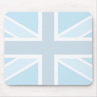 Union Jack Flag in Blue Mousepad